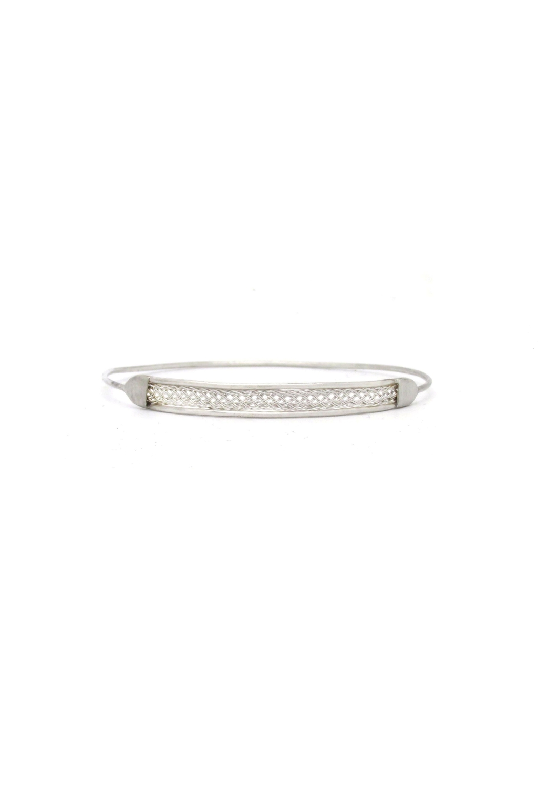 Laura Jane's Jewelry Silver Braid Bangle - Front Cropped Image