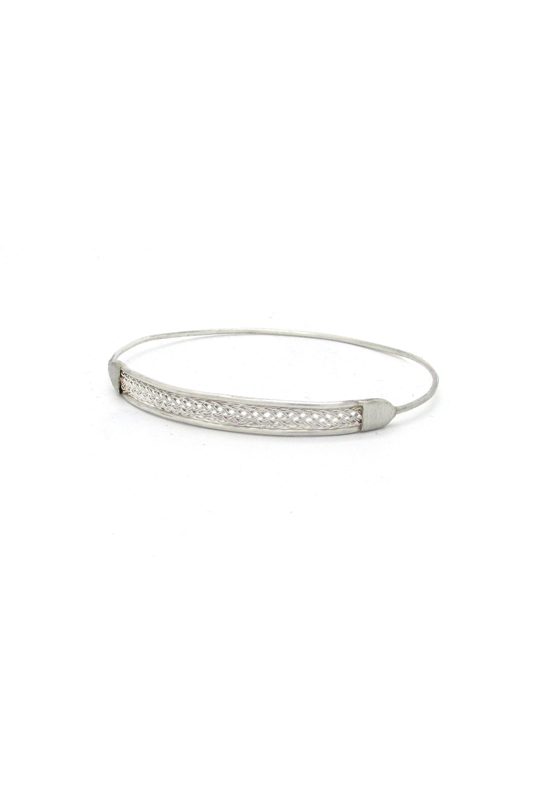 Laura Jane's Jewelry Silver Braid Bangle - Side Cropped Image