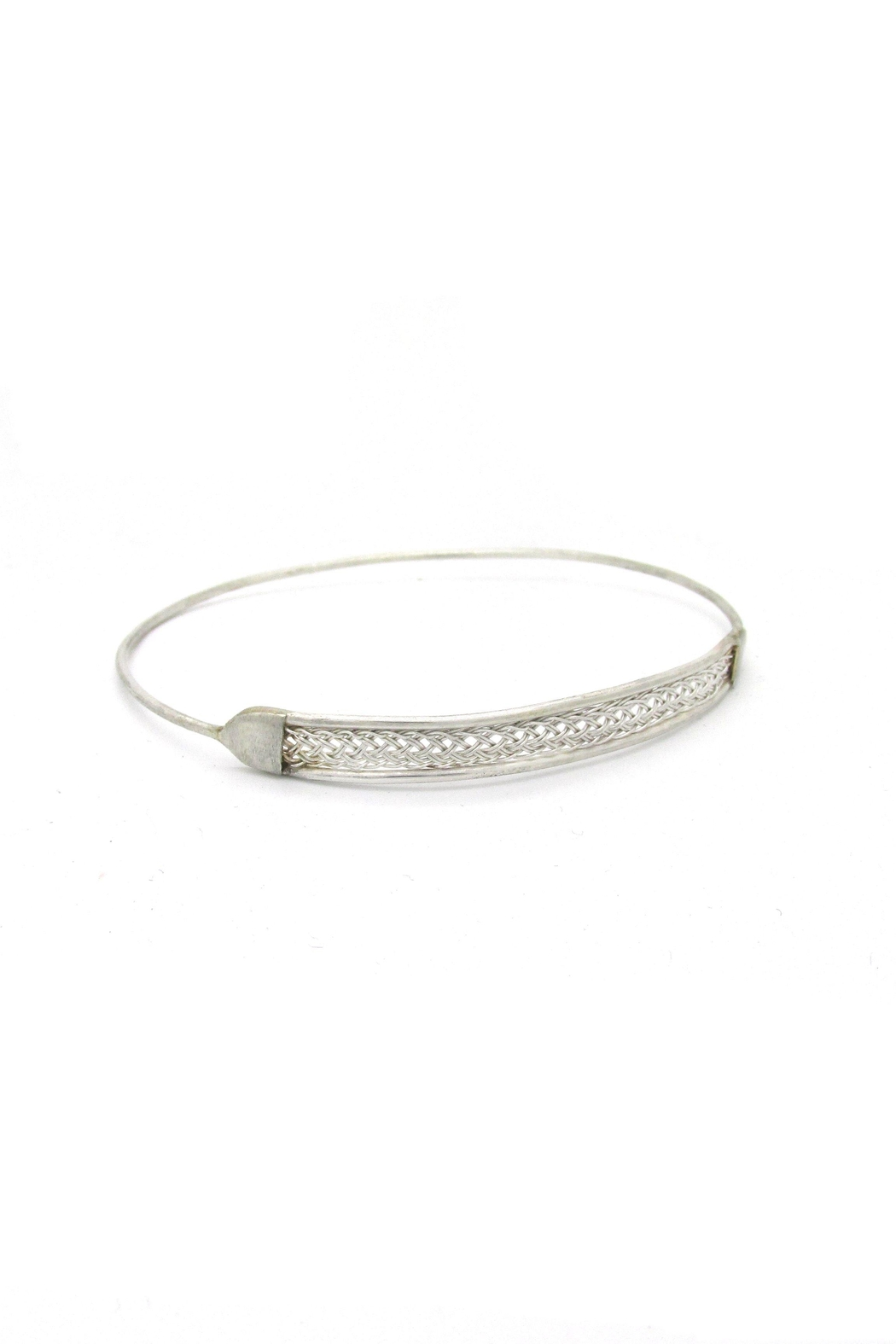Laura Jane's Jewelry Silver Braid Bangle - Front Full Image