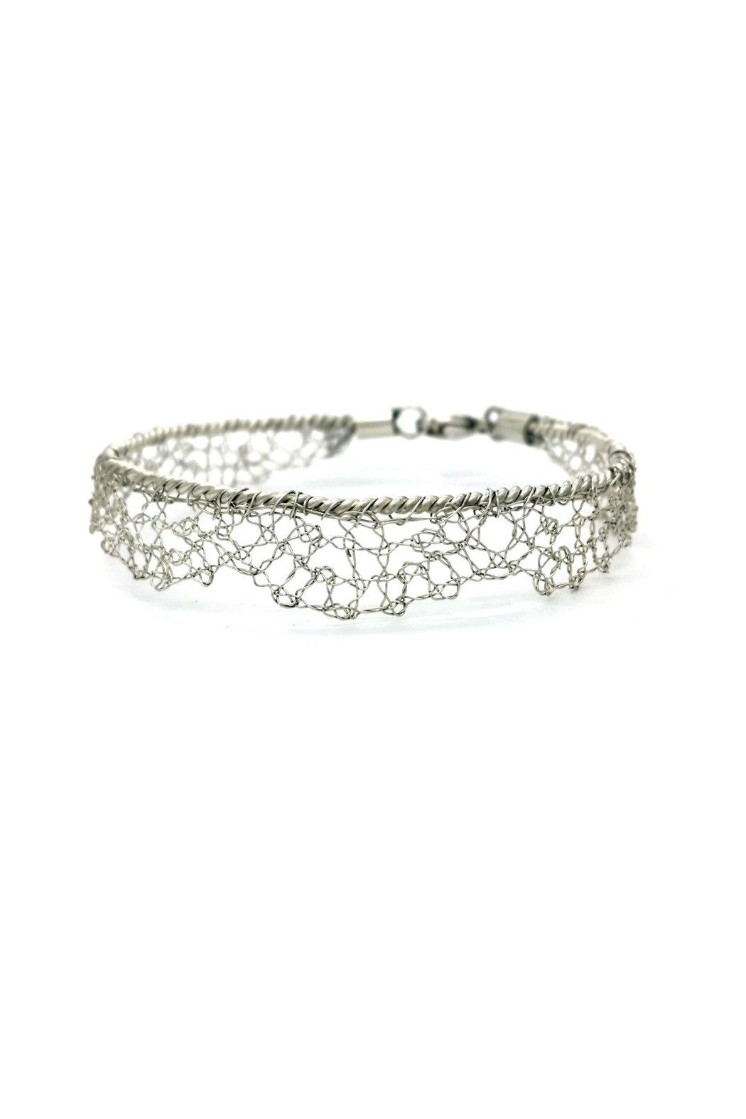 Laura Jane's Jewelry Silver Lace Bracelet - Side Cropped Image