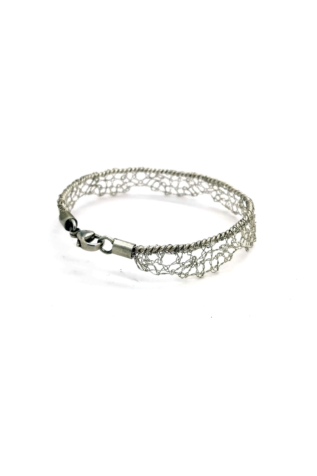 Laura Jane's Jewelry Silver Lace Bracelet - Front Full Image
