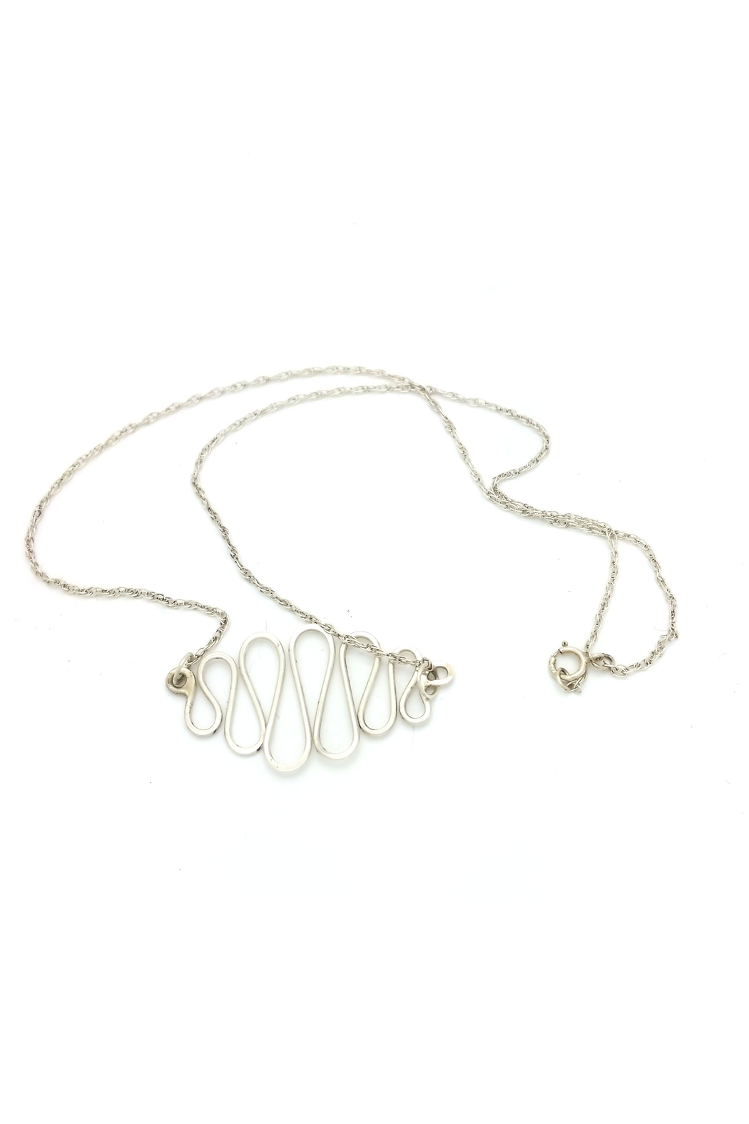 Laura Jane's Jewelry Squiggle Necklace - Front Full Image