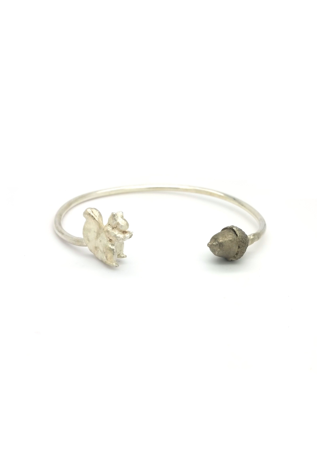 Laura Jane's Jewelry Squirrel Acorn Cuff Bracelet - Side Cropped Image