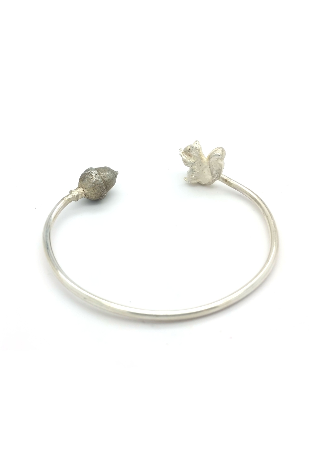 Laura Jane's Jewelry Squirrel Acorn Cuff Bracelet - Front Full Image