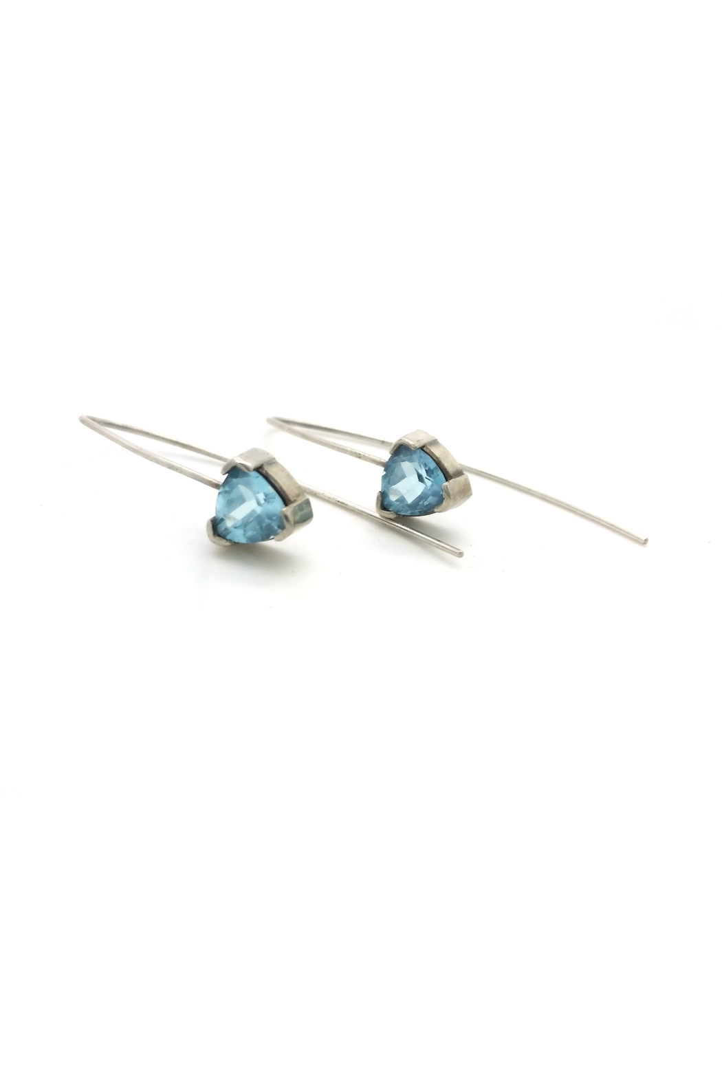 Laura Jane's Jewelry Topaz Trillion Earrings - Front Full Image