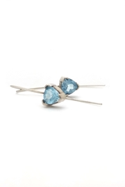 Laura Jane's Jewelry Topaz Trillion Earrings - Side cropped