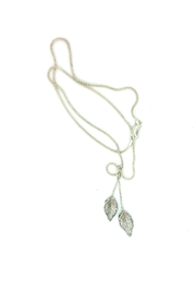 Laura Jane's Jewelry Two Leaf Pendant Necklace - Front full body