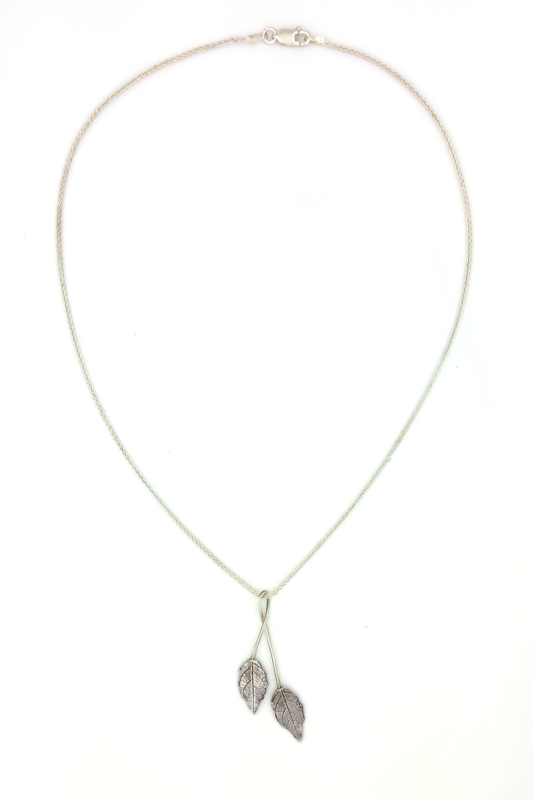Laura Jane's Jewelry Two Leaf Pendant Necklace - Main Image