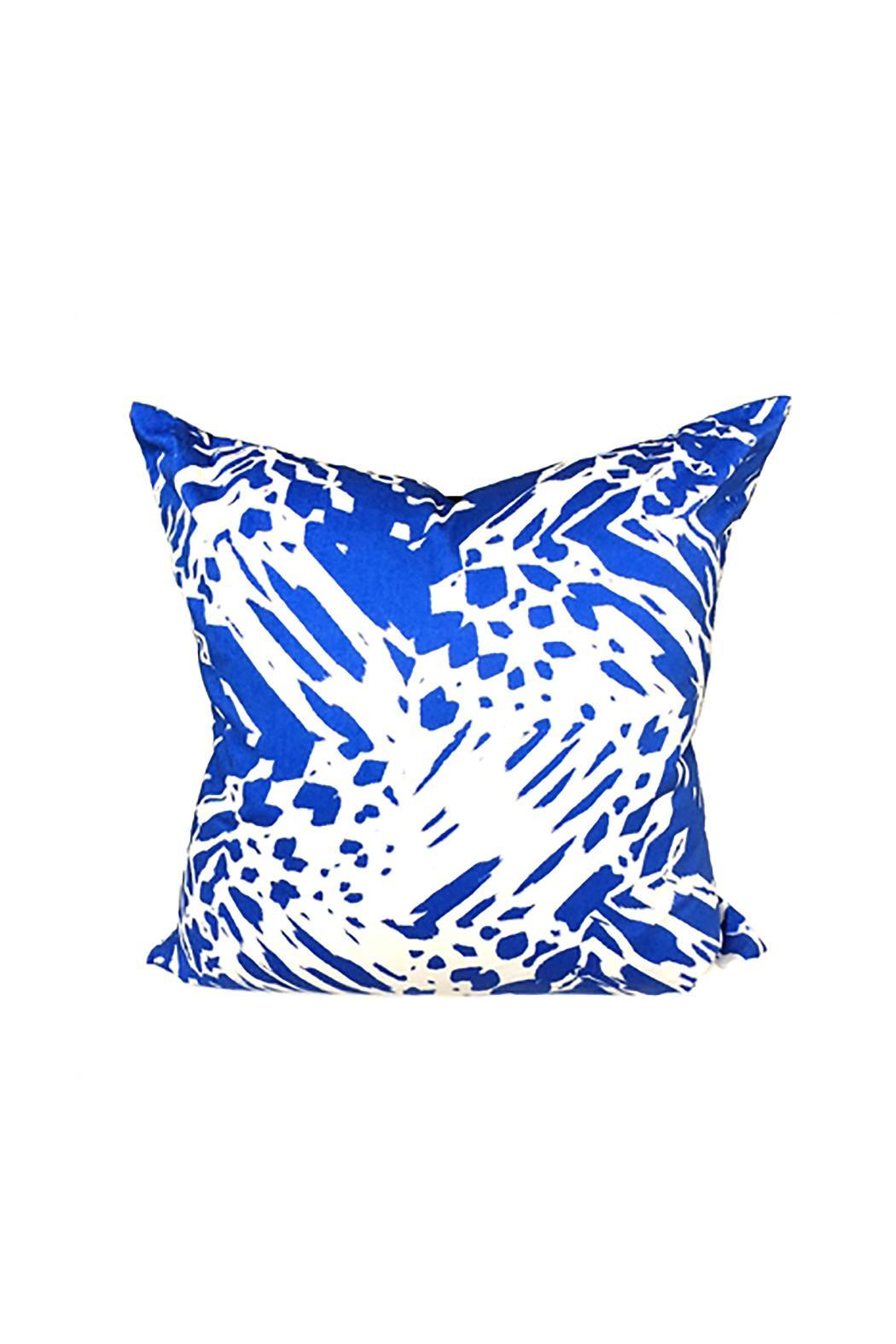 Laura Park Britt Blue Pillow - Front Cropped Image