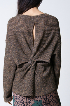 Wanderlux Laurel twist-back sweater - Alternate List Image