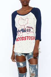 Lauren Moshi Destroyed Baseball Tee - Product Mini Image