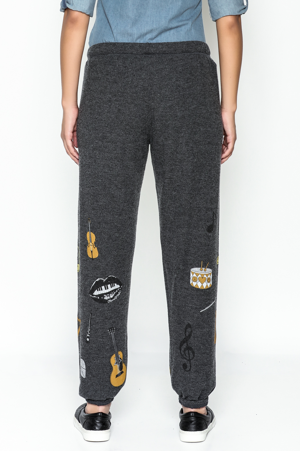 Lauren Moshi Hacci Lounge Pants - Back Cropped Image