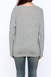 Lauren Moshi Hacci V-neck Sweatshirt - Back cropped