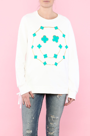Lauren Moshi White Long Sleeve Sweatshirt - Product Mini Image