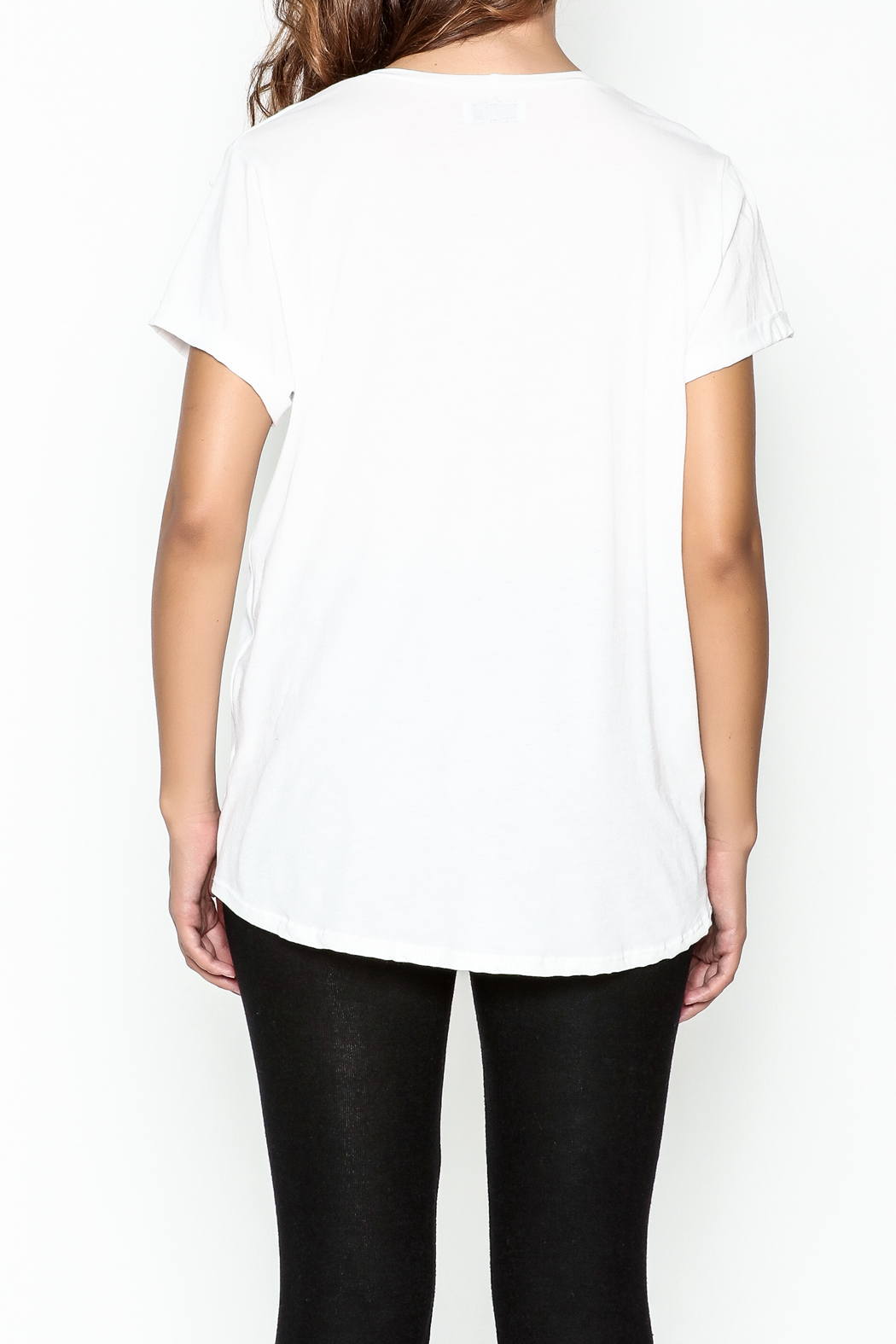 Lauren Moshi Peace Sign Pocket Tee - Back Cropped Image
