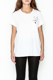 Lauren Moshi Peace Sign Pocket Tee - Front full body