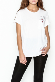 Lauren Moshi Peace Sign Pocket Tee - Front cropped