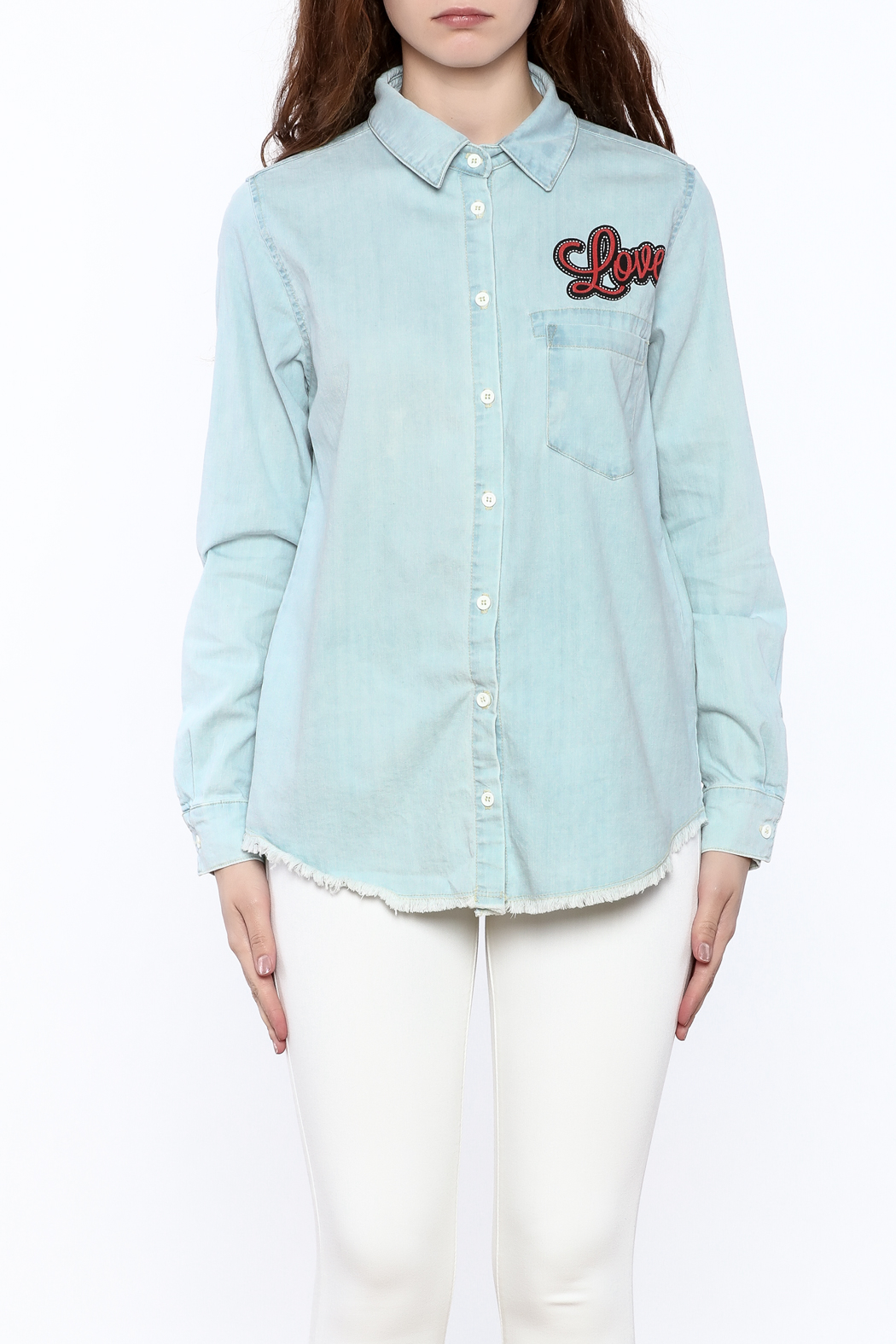 Lauren Moshi Denim Work Shirt - Side Cropped Image