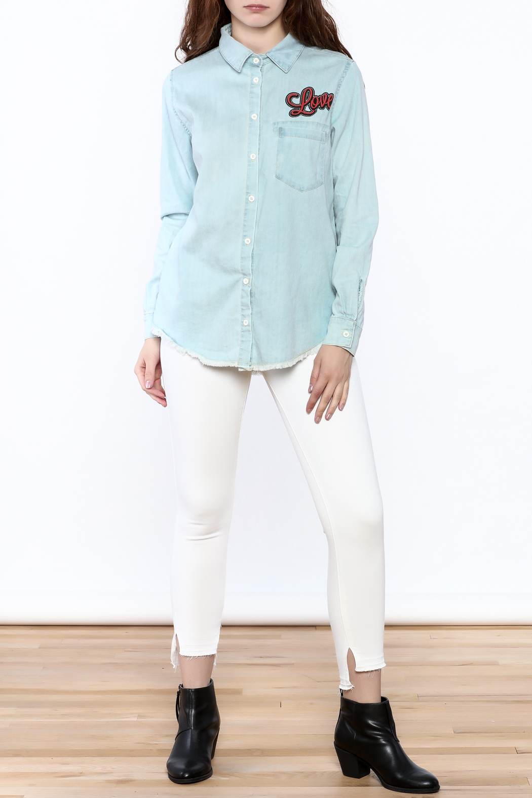 Lauren Moshi Denim Work Shirt - Front Full Image