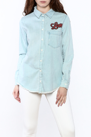 Lauren Moshi Denim Work Shirt - Front cropped