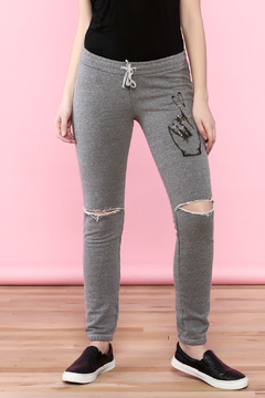 Shoptiques Product: Gray Distress Sweatpants