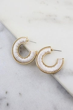 Shoptiques Product: Lauren Thread Wrapped Hoops
