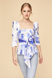 Cara Cara Lauren Top (Toile Blue) - Product Mini Image