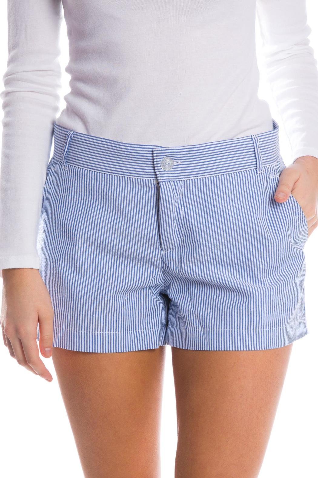 Lauren James Seersucker Poplin Shorts - Front Cropped Image