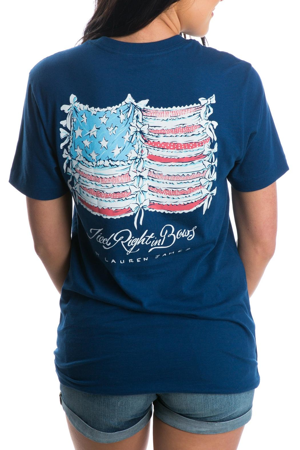 Lauren James Tied Right Tee - Front Cropped Image