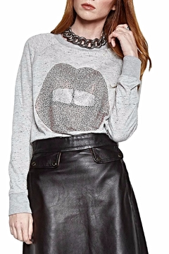 Shoptiques Product: Grey Pull-Over Top