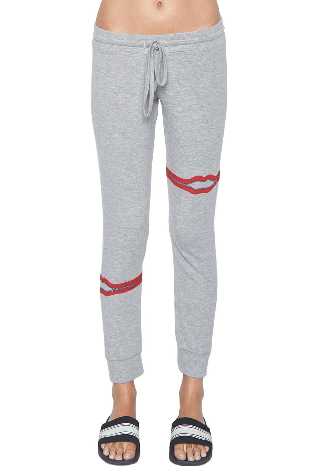 Lauren Moshi Kizzy Zipper Sweatpants - Side Cropped Image