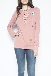 Lauren Moshi Lace Up Sweater - Product Mini Image