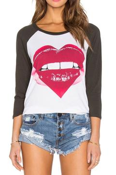 Shoptiques Product: Pink Heart Maglan Tee