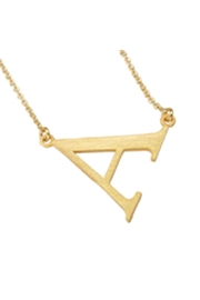 Lauren Spencer Gold Initial Necklace - Product Mini Image