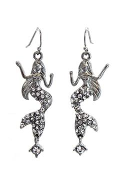 Lauren Spencer Mermaid Crystal Earrings - Alternate List Image