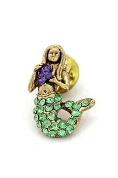 Lauren Spencer Mermaid Pin Gold - Alternate List Image