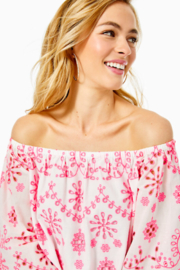 Lilly Pulitzer Laurenne Eyelet Top - Side cropped