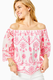 Lilly Pulitzer  Laurenne Eyelet Top - Product Mini Image