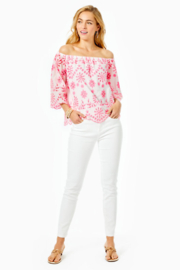 Lilly Pulitzer Laurenne Eyelet Top - Back cropped