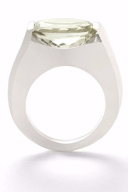 Laurent Léger Arch Green Ring - Front cropped