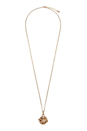 Riah Fashion Lava-Stone Locket Necklace - Front cropped