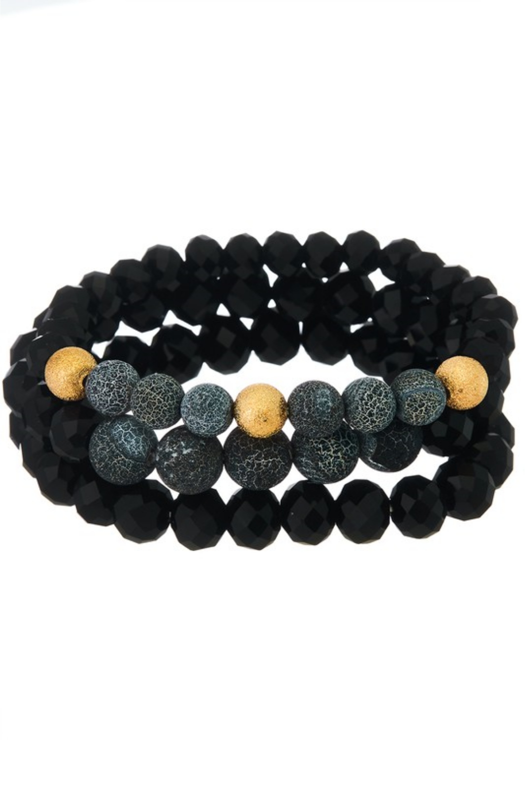 Girly Lava Stone Mix Bracelet - Set - Main Image