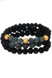 Girly Lava Stone Mix Bracelet - Set - Product Mini Image