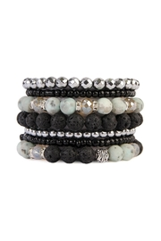 Riah Fashion Lava-Stone Stack Bracelet-Set - Product Mini Image