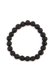 Riah Fashion Lava-Stone Stretch Bracelet - Product Mini Image