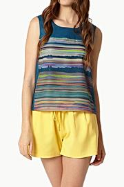 Lavand Abstract Mural Blouse - Product Mini Image
