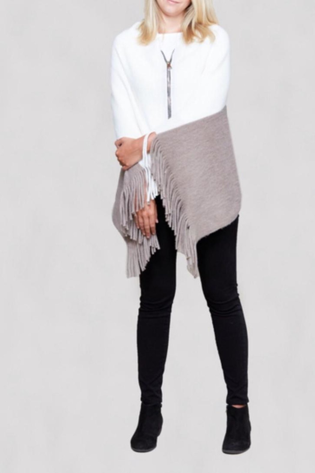 Lavand Convertible Shawl - Front Cropped Image