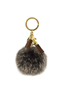 Shoptiques Product: Brown Puff Keychain