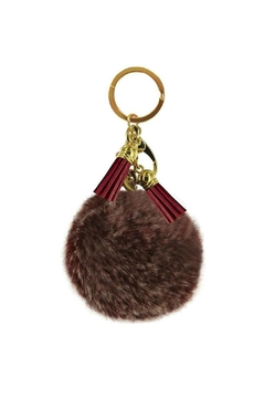 Shoptiques Product: Red Puff Keychain