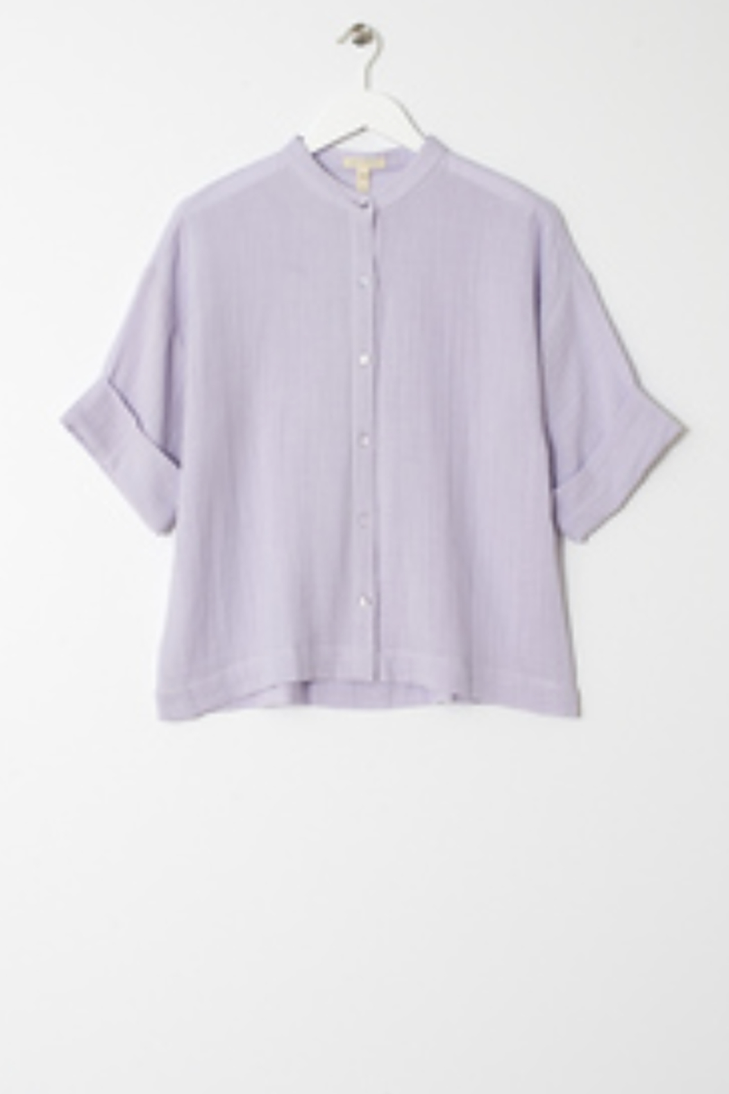 Eileen Fisher Lavender button top - Main Image